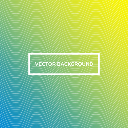Colorful Abstract Wave Lines Vector Background - Frame with White Text Bold