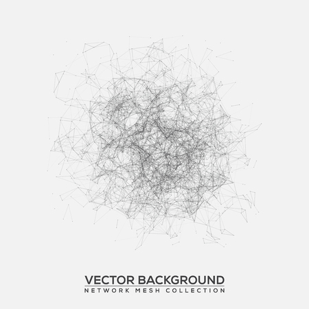 texture: Black and White Abstract Background Vector Mesh Network