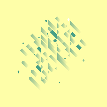 abstract backgrounds: Minimalistic Abstract Design - Creative Concept - Modern Abstract Yellow Diagonal Gradient Background with Geometric Elements. Blue, Green & Diagonal Lines Circles. Vector Illustration Illustration