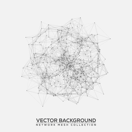 abstract backgrounds: Black and White Abstract Background Vector Mesh Network
