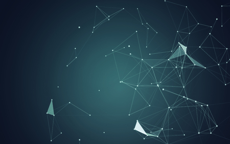 shiny: Abstract Blue Background with 3D Polygonal Low Poly Connecting Dots and Lines - Connection Structure - Background futuristic HUD