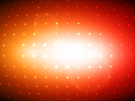 Orange and Red Flashing Light Bulbs Disco Wall Vector Background