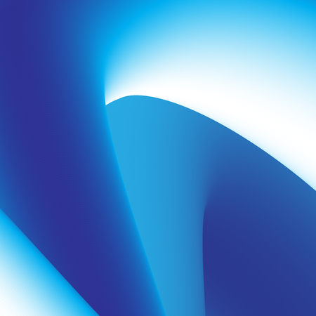 Abstract 3D Blue Curve Lines Vector Background for Presentation