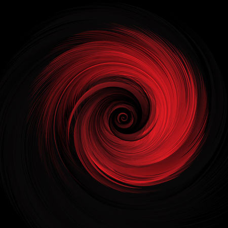 Abstract Red Realistic Rose Vector Illustration on Black Background