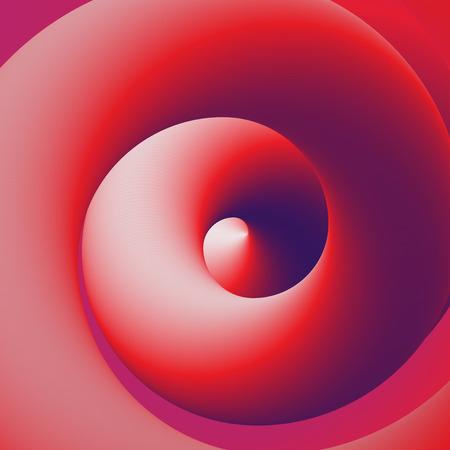 Abstrakte rote und purpurrote Kurve 3D gewundene Linien Vektor-Illustrations-Hintergrund