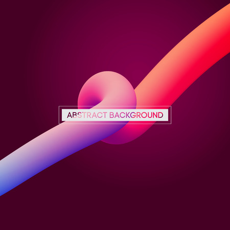 digital background: Abstract 3D Colorful Curve Lines Vector Background for Presentation