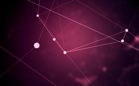 high: Abstract Polygonal Space Purple Background with Low Poly Connecting Dots and Lines - Connection Structure - Futuristic HUD Illustration Background