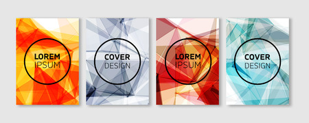 Abstract templates with colorful Geometric Polygons. Vector covers design. Future Poster template.