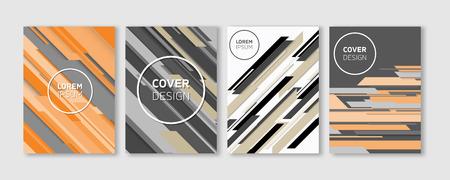 Minimal Vector Covers Design | Cool Colorful Vibrant Diagonal Stripes Flat Geometric Illustrations | Future Poster Template