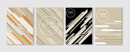 Minimal Vector Covers Design, Cool Colorful Vibrant Diagonal Stripes Flat Geometric Illustrations, Future Poster Template.