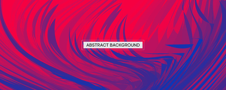 Abstract Design Blue Feather on Red Background | Wide Angle Vector Illustration