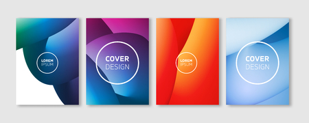 Minimal Vector Covers Design - Abstract Liquid 3D Curve Lines in Vibrant Color - Editable Blob Flyer Templates Vector Background