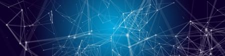 Neural network concept. Connected cells with links. High technology process. Abstract Vector Background Ilustración de vector