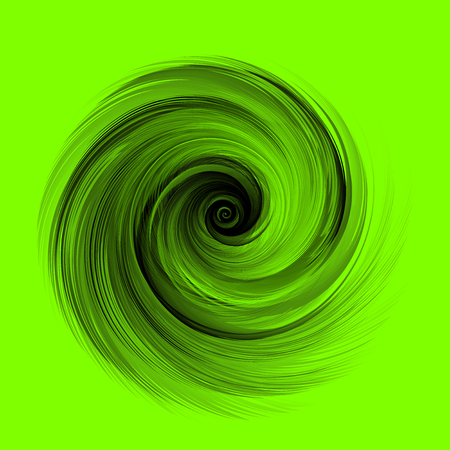 Abstract Black Realistic Round Feather Vector Illustration on Green Background - Color of The Year 2019 Concept Reklamní fotografie - 126371302