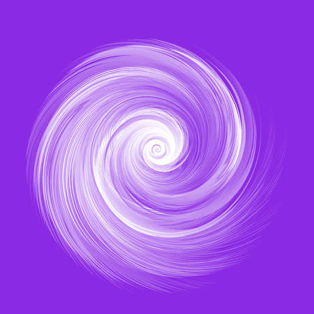 Abstract White Realistic Round Feather Vector Illustration on Purple Background - Color of The Year 2019 Concept Reklamní fotografie - 126371304