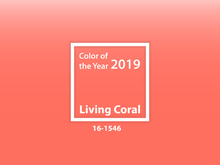 Color of the year 2019 Living Coral - Vector Illustration
