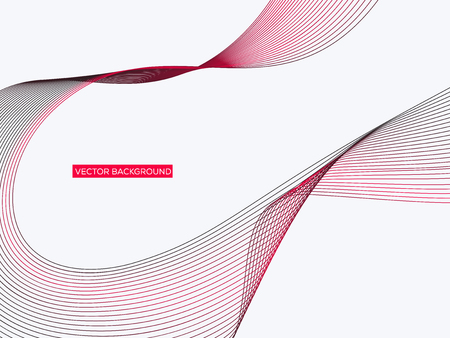 Abstract geometric background with dynamic linear waves. Vector illustration in future minimalistic style Ilustrace