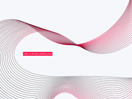 Abstract geometric background with dynamic linear waves. Vector illustration in future minimalistic style Stock Illustratie