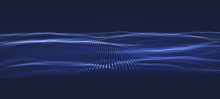 3D Data technology background. Music abstract illustration. Equalizer for music, showing sound waves. Vector design