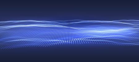 3D Data technology background. Music abstract illustration. Equalizer for music, showing sound waves. Vector design Reklamní fotografie - 124748032