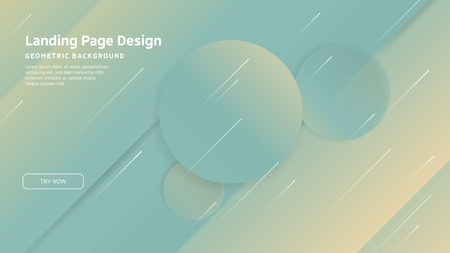 Minimal geometric background. Landing page design template. Dynamic shapes composition. EPS10 vector Ilustrace