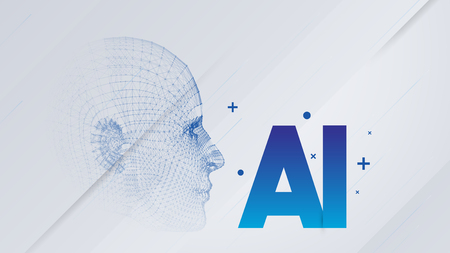 Artificial Intelligence, Cloud Computing, Machine Learning and Networks Design Concept with AI Label - Vector Illustration Reklamní fotografie - 123581844