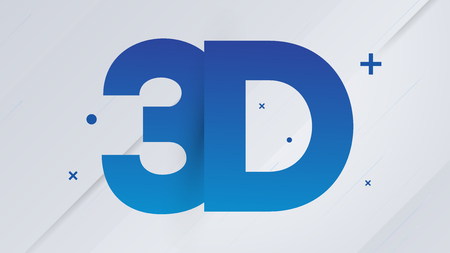 Blue 3D Text on White Background - Vector Illustration Reklamní fotografie - 123581848