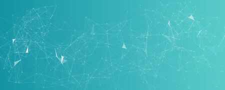 Blockchain technology abstract background. Cryptocurrency fintech block chain network and programming concept. Network and code illustration.