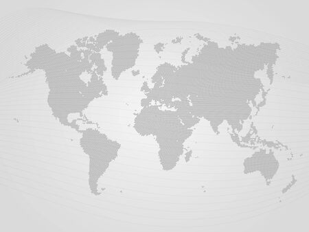 Gray Dotted World Map
