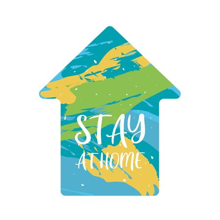 Stay home poster design vector