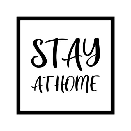 Stay home poster design vector.