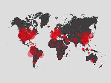 Covid 19 map confirmed cases report worldwide globally.