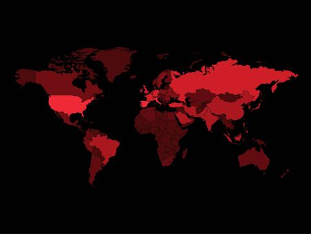 2019-nCoV Infected countries on World Map. Vector Illustration