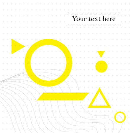 Geometric Abstract Template - Seamless pattern with abstract shapes. Yellow and Gray on white Background - Vector Illustration Ilustracja