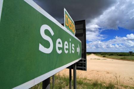 kalahari desert: road sign africa