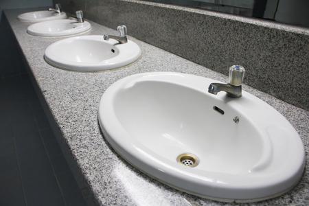 washbasin: washbasin in restroom Stock Photo