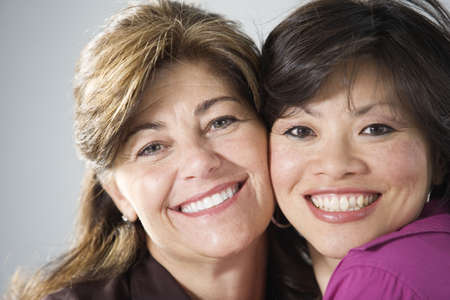 Portrait of two friends smiling. Stock Photo - 3083903