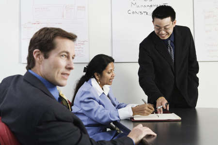 View of businesspeople in an office. photo
