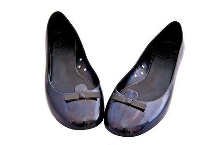 A pair of woman ballet flat shoes (rubber)