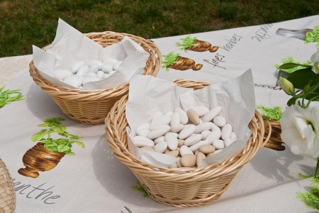 Also known as sugared almonds or confetti, are a type of confectionery