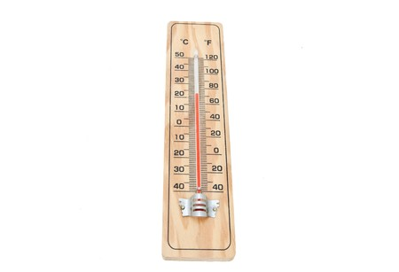 A thermometer is a device that measures temperature Stock Photo