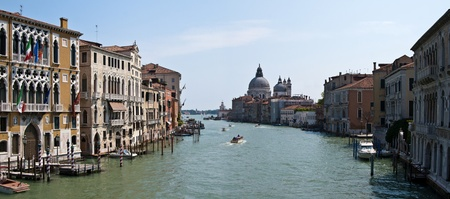 Canal Grande panorama from Venice, Italy Stock Photo