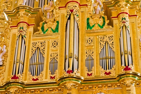 Impressive and magnificent church musical instrument photo