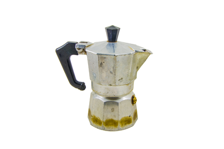 object isolated on white, coffee maker close up photo
