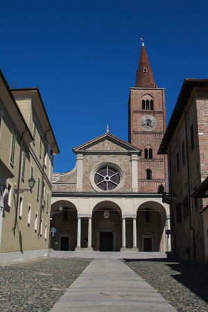 Roman Catholic cathedral in the city of Acqui Terme, Piedmont, Italy Stock Photo