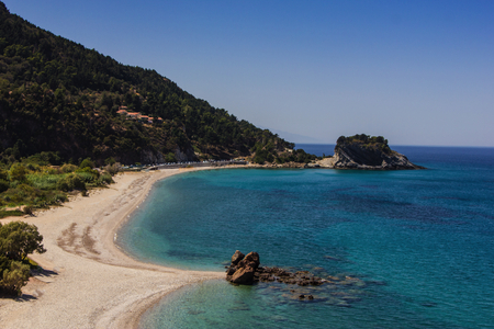 Potami is a large beach, on the northern side of the island of Samos, Greece