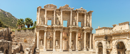 The ancient library of Ephesus in Turkey Stock Photo
