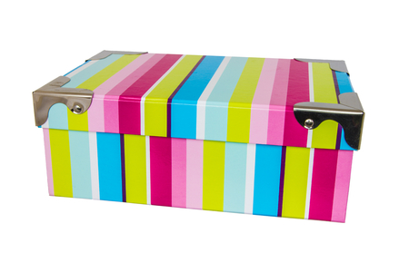 A very colorful box to contain documents