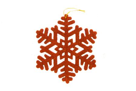 Christmas snow ice decoration isolated Stock Photo