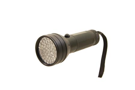 LED black torch macro isolated Stock Photo